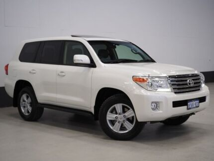 2013 Toyota Landcruiser URJ202R MY13 VX (4x4) Crystal Pearl 6 Speed Automatic Wagon Bentley Canning Area Preview