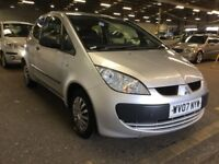 2007 MITSUBISHI COLT 1.1 CZ1 PETROL MANUAL 3 DOOR HATCHBACK 5 SEAT CHEAP INSURANCE MOT N CORSA POLO