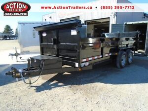 16FT HEAVY DUTY 7 TON DUMP TRAILER - SAVE MONEY WITH ACTION! London Ontario image 1
