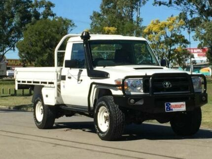 2007 Toyota Landcruiser VDJ79R Workmate White 5 Speed Manual Cab Chassis Archerfield Brisbane South West Preview