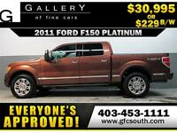 2011 FORD F150 PLATINUM  *EVERYONE APPROVED* $0 DOWN $229/BW!