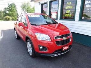 2014 Chevrolet Trax LTZ AWD for only $169 bi-weekly all in!