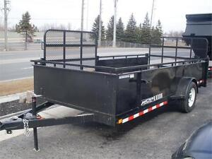Landscape Trailer with Side and Rear Ramp