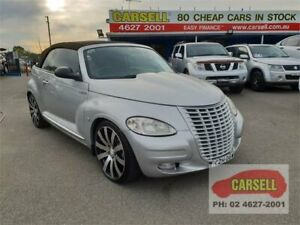 2006 Chrysler PT Cruiser PG MY2006 Touring Silver 5 Speed Manual Convertible Campbelltown Campbelltown Area Preview
