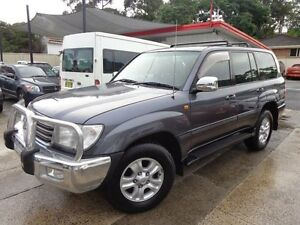 2005 Toyota Landcruiser UZJ100R Sahara (4x4) Slate Grey 5 Speed Automatic Wagon Sylvania Sutherland Area Preview