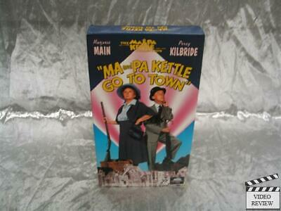 Ma and Pa Kettle Go To Town VHS Marjorie Main Percy