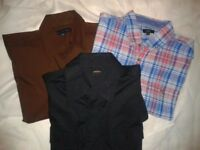 3 Lge mens shirts worn once , great condition
