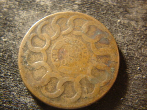 1787  Fugio Copper Penny Cent Nice Devices DTZ#1