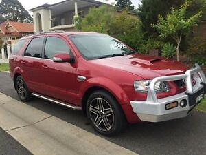 2009 Ford Territory SY MKII Turbo Ghia Wagon 7st 4dr Spts Auto 6sp AWD 4.0T Red Sports Automatic Croydon Burwood Area Preview