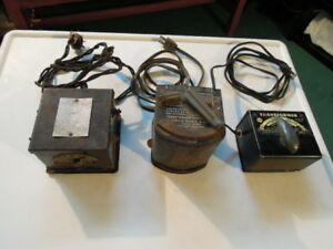 Marx + Jefferson Model Toy Train Electric Transformers - 3 items