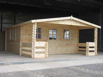 GRANT LOG CABIN - 5m x 5.9m - 68mm Summer House, Garden Building, Home Office