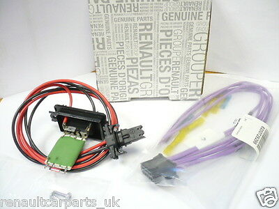SCENIC II GENUINE RENAULT HEATER RESISTOR & WIRING LOOM WITH PLUG CONNECTOR