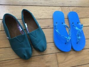 Brand new shoes size 5, 2 pair, OXOX and flipflops