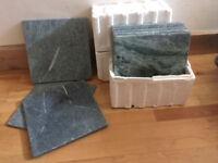 25 Marble Bathroom/Kitchen Tiles (30cm x 30cm). As new.