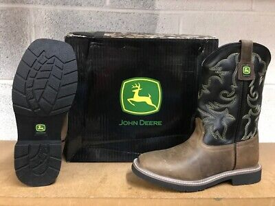 JOHN DEERE BOOTS  #3553 YOUTH (BIG KIDS) LEATHER BOOTS