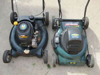 2 broken Yard Works Lawn Mowers Gas and Electric (as is)