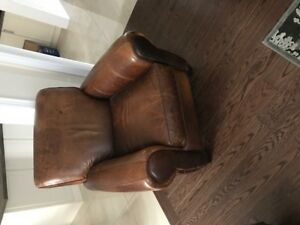 Luxurious full grain leather chairs