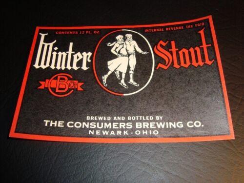 Circa 1930s Consumer's Winter Stout IRTP Label, Ohio