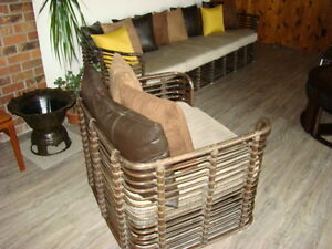 Rattan Sofa and Tub Chair Comox / Courtenay / Cumberland Comox Valley Area image 5