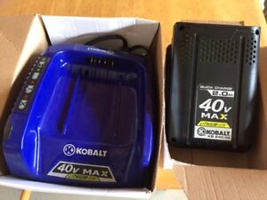 Brand New Kobalt 40V 2Ah Lithium Ion Battery and Charger
