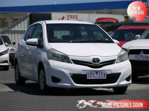 2012 Toyota Yaris NCP130R YR White 5 Speed Manual Hatchback Cheltenham Kingston Area Preview