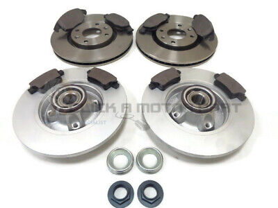 CITROEN BERLINGO MPV /& VAN REAR 2 BRAKE DISCS FITTED WHEEL BEARINGS ABS RINGS