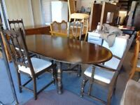 Ercol Old Colonial Extending Dining Table & 4 Chairs