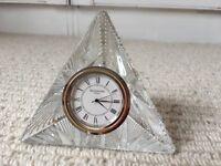 Waterford Crystal Pyramid Clock
