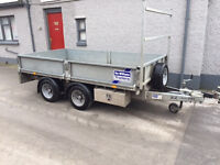 Ifor Williams 10 x 5'6 Dropside Trailer - Only 2 Years Old