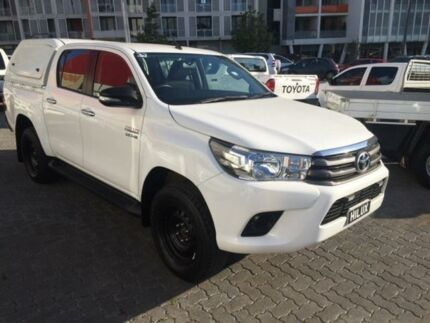 2015 Toyota Hilux GUN126R SR (4x4) White 6 Speed Automatic Dual Cab Utility North Strathfield Canada Bay Area Preview