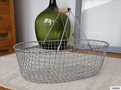 L1713 Drahtkorb ~ Metallkorb ~ Kartoffelkorb ~ Eisenkorb ~ Vintage