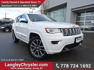 2017 Jeep Grand Cherokee Overland ACCIDENT FREE w/ 4X4, LEATH...