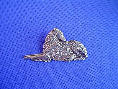 Borzoi Russian Wolfhound Pin RECLINING #17H Dog Jewelry by Cindy A. Conter