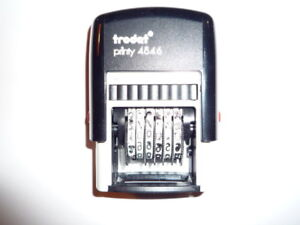 Trodat Numberer and Copy Ink Stamps