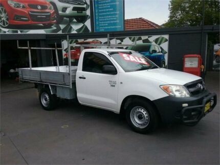 2008 Toyota Hilux TGN16R 07 Upgrade Workmate White 5 Speed Manual Cab Chassis Greenacre Bankstown Area Preview