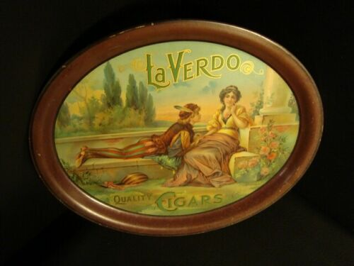 Circa 1910 La Verdo Quality Cigar Tray