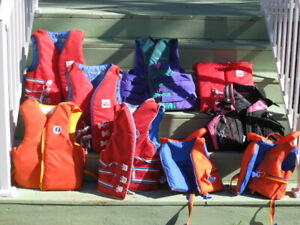 10 Life Jackets of various sizes