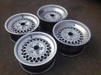 """RIAL MESH 16"""" two 7J and two 8J 5x112 Deep dish, alloy wheels, classic, mercedes amg, not aez bbs"""