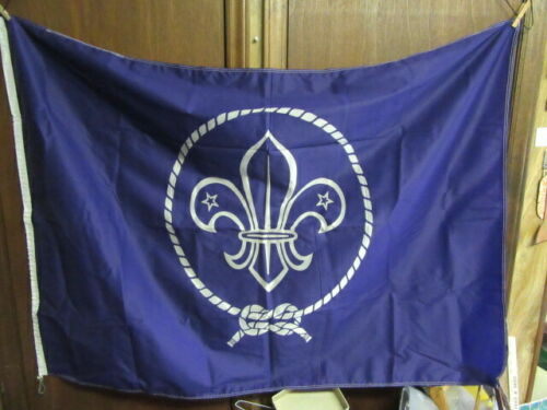 World Scouting, World Crest Nylon Flag, Printed One Side  56 x 36    TH3