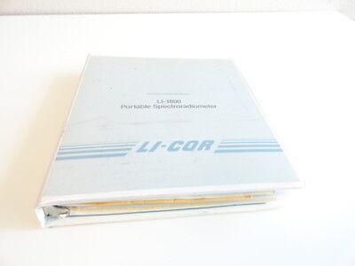 Li-cor Li-1800 Li1800 Portable Spectroradiometer Manuals And Software