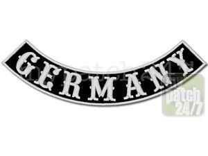 Aufnäher Biker Patch GERMANY Bogen unten 30cm gestickt, Bottom Rocker , MC