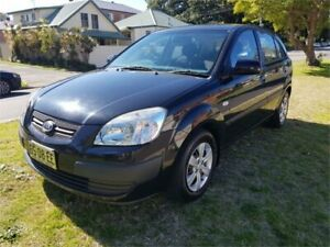 2008 Kia Rio JB LX Black 5 Speed Manual Hatchback Broadmeadow Newcastle Area Preview