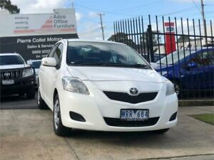 2008 Toyota Yaris NCP93R 08 Upgrade YRS White 4 Speed Automatic Sedan Burwood Whitehorse Area Preview