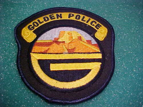 GOLDEN COLORADO POLICE PATCH SHOULDER SIZE UNUSED TYPE 2