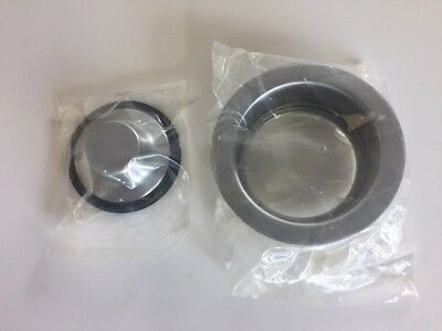 Brasstech Garbage Disposer Flange and Stopper Set 118/26D - Satin Chrome