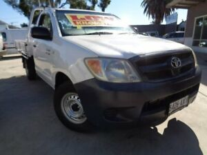 2008 Toyota Hilux TGN16R MY08 Workmate 4x2 White 5 Speed Manual Cab Chassis Enfield Port Adelaide Area Preview