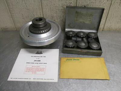Jacobs Model 91-t0 Rubber-flex Collet Chuck Wcollets L0 Spindle Adapter