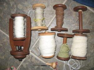 Ashford Standard Spinning Wheel Flyer and 7 Bobbins