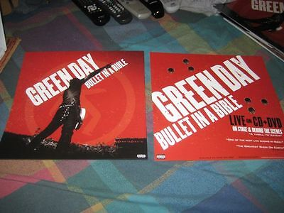GREEN DAY-(bullet in a bible)-1 POSTER-2 SIDED-12X12-MINT-RARE