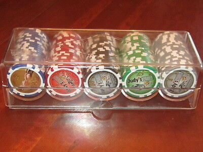 100 MINT JUDY'S COYOTE SPRING RANCH casino CHIPS $1 $5 $25 $50 $100  Brothel NV